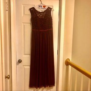 David's Bridal Bridesmaid Dress in Wine - 10